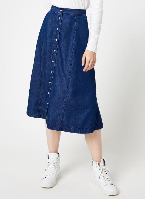 Vêtements Calvin Klein Jeans Midi Skirt Indigo Tencel Bleu vue détail/paire