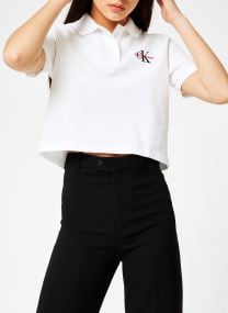 Embroidered Cropped SS Polo