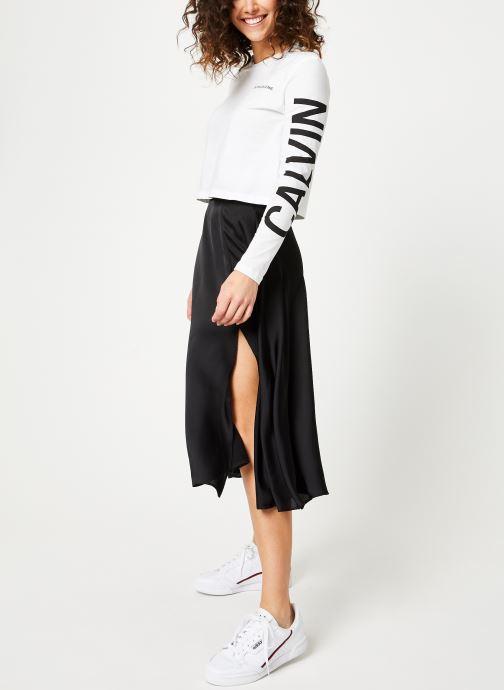Vêtements Calvin Klein Jeans Institutional Back Logo LS Blanc vue bas / vue portée sac