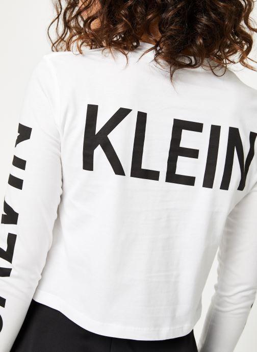 Vêtements Calvin Klein Jeans Institutional Back Logo LS Blanc vue face