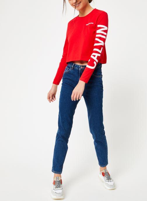 Kleding Calvin Klein Jeans Institutional Back Logo LS Rood onder