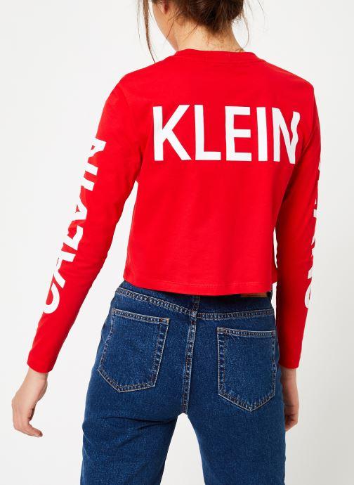 Kleding Calvin Klein Jeans Institutional Back Logo LS Rood model