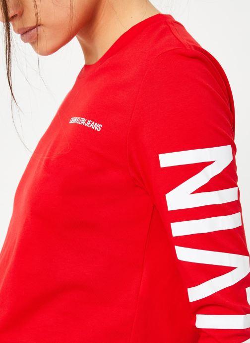 Kleding Calvin Klein Jeans Institutional Back Logo LS Rood voorkant