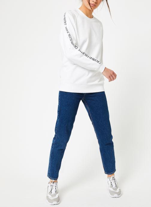 Vêtements Calvin Klein Jeans Inst Track Rel Raglan CN Blanc vue bas / vue portée sac