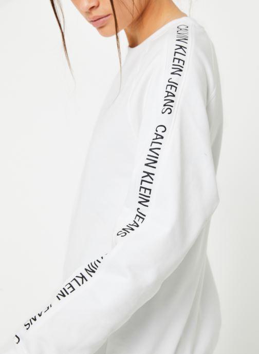 Vêtements Calvin Klein Jeans Inst Track Rel Raglan CN Blanc vue face