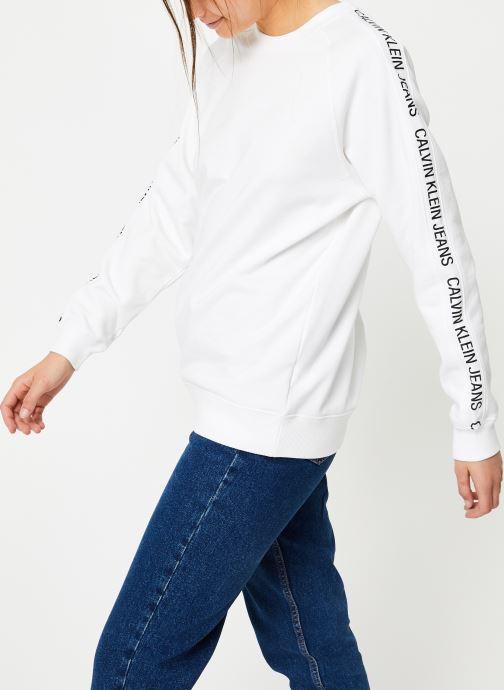 Vêtements Calvin Klein Jeans Inst Track Rel Raglan CN Blanc vue détail/paire