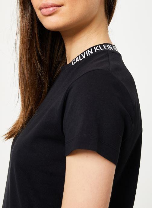 Kleding Calvin Klein Jeans Skater Tee Dress Zwart voorkant