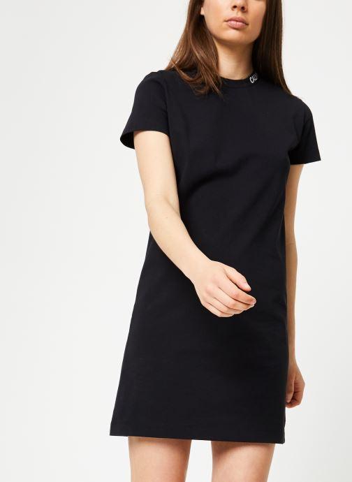 Kleding Calvin Klein Jeans Skater Tee Dress Zwart detail