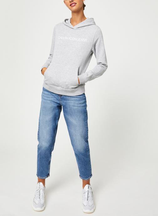Kleding Calvin Klein Jeans Institutional Hoodie Grijs onder