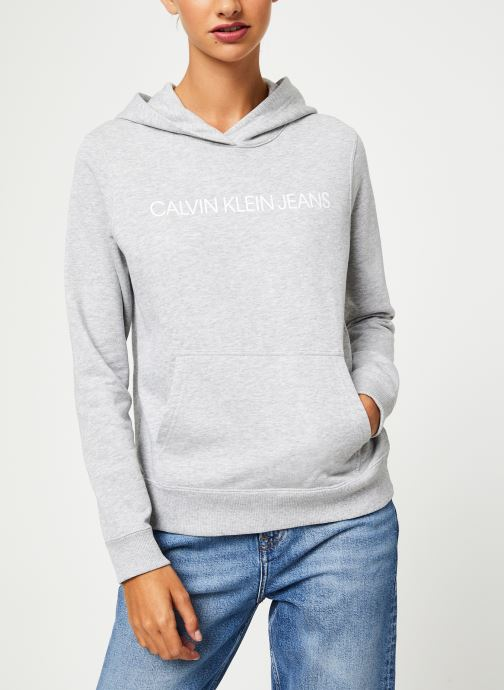 Kleding Calvin Klein Jeans Institutional Hoodie Grijs rechts
