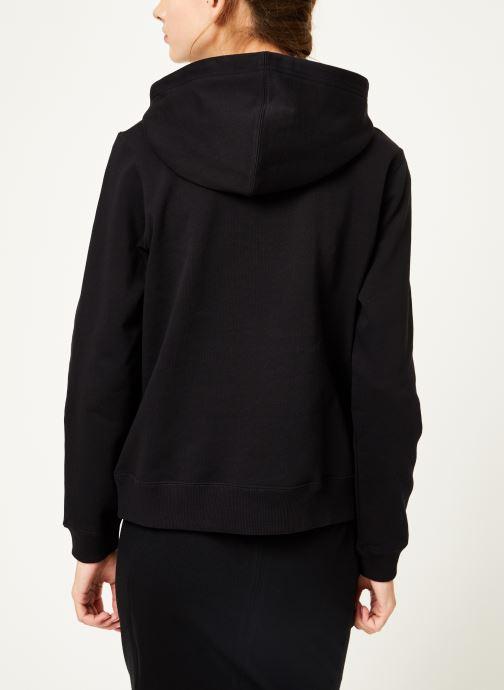 Vêtements Calvin Klein Jeans Institutional Hoodie Noir vue portées chaussures