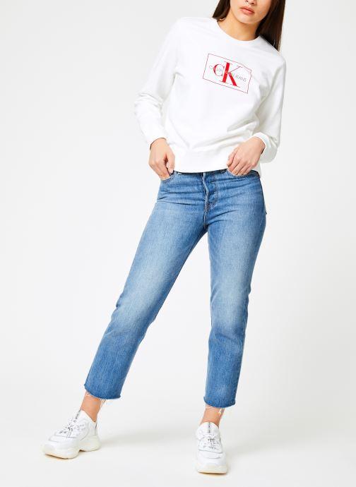 Kleding Calvin Klein Jeans Monogram Outline Box CN Wit onder