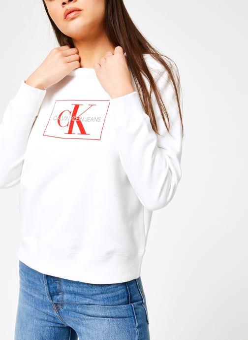 Kleding Calvin Klein Jeans Monogram Outline Box CN Wit detail