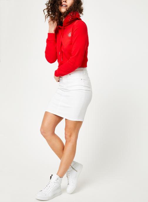 Kleding Calvin Klein Jeans Monogram Embroidery Hoodie Rood onder