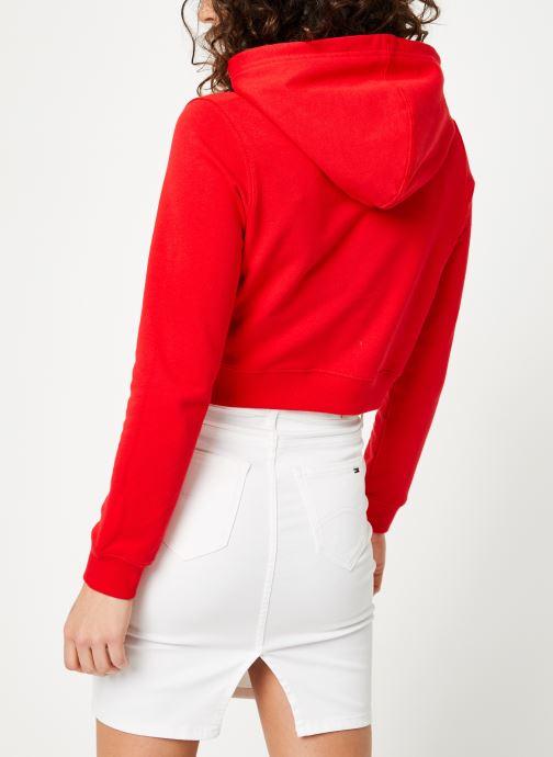 Kleding Calvin Klein Jeans Monogram Embroidery Hoodie Rood model