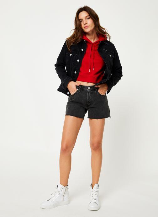 Vêtements Calvin Klein Jeans Monogram Embroidery Hoodie Rouge vue bas / vue portée sac