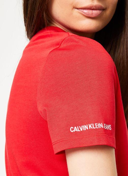 Calvin Chez Sarenza367262 Rib Mix DressrougeVêtements Ss Klein Jeans QtChrds