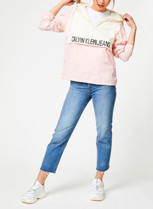 Kleding Calvin Klein Jeans Color Block Popover Roze onder