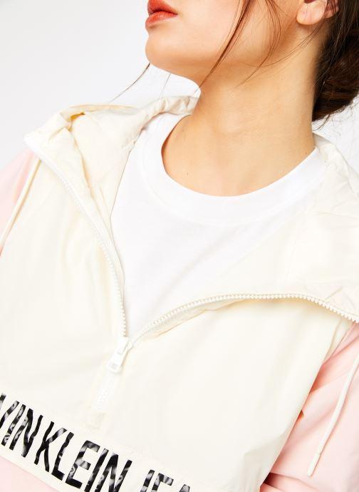 Kleding Calvin Klein Jeans Color Block Popover Roze voorkant