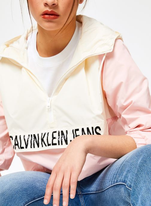 Kleding Calvin Klein Jeans Color Block Popover Roze detail