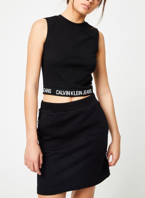Vêtements Calvin Klein Jeans Milano Tank Noir vue droite