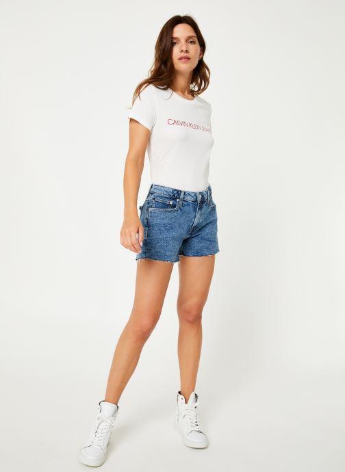 Vêtements Calvin Klein Jeans Mid Rise Weekend Short Bleu vue bas / vue portée sac
