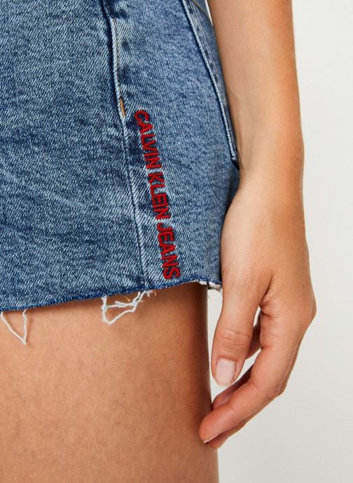 Vêtements Calvin Klein Jeans Mid Rise Weekend Short Bleu vue face