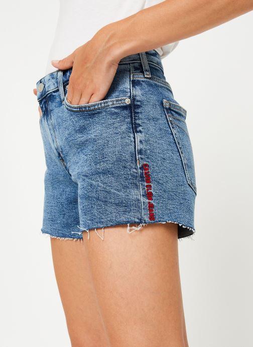 Vêtements Calvin Klein Jeans Mid Rise Weekend Short Bleu vue détail/paire