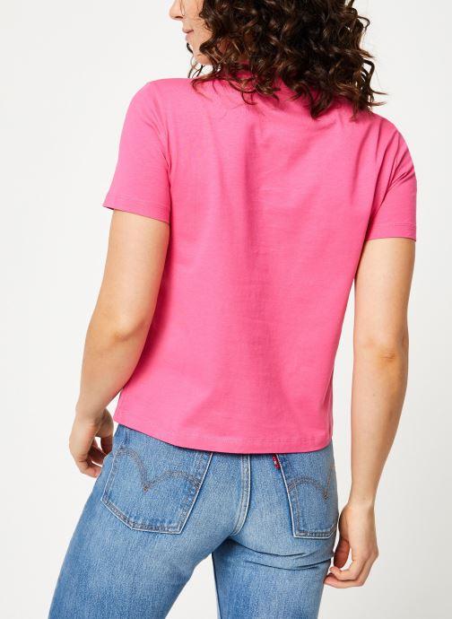 Kleding Calvin Klein Jeans Iconic Monogram Box Straight Tee Roze model