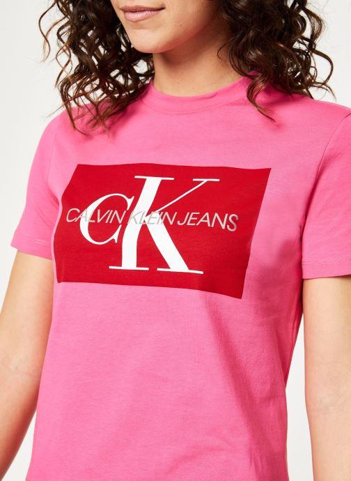 Kleding Calvin Klein Jeans Iconic Monogram Box Straight Tee Roze voorkant