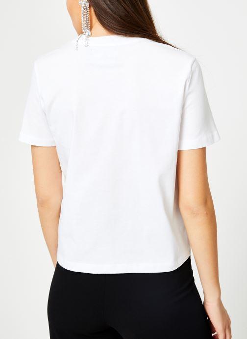 Vêtements Calvin Klein Jeans Iconic Monogram Box Straight Tee Blanc vue portées chaussures