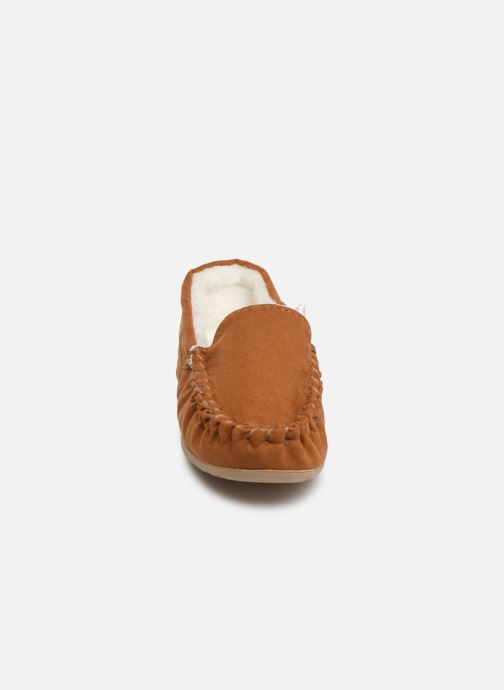 Slippers Monoprix Kids CHAUSSON FOURRE BRUN Brown model view