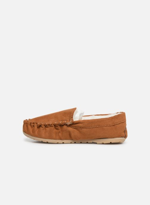 Slippers Monoprix Kids CHAUSSON FOURRE BRUN Brown front view