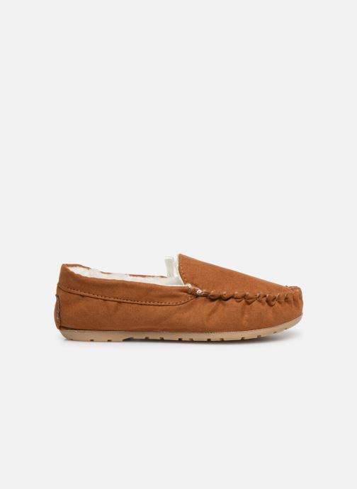 Slippers Monoprix Kids CHAUSSON FOURRE BRUN Brown back view