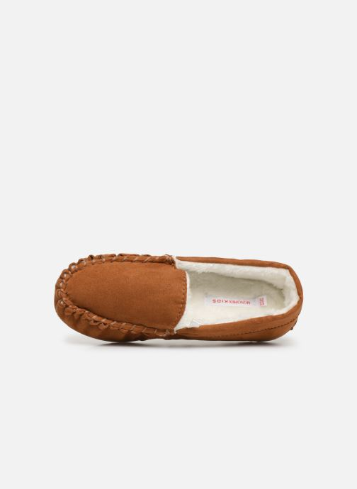 Slippers Monoprix Kids CHAUSSON FOURRE BRUN Brown view from the left