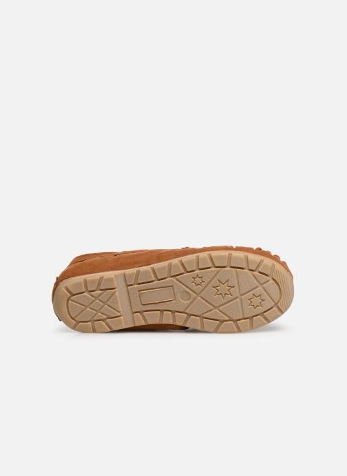 Slippers Monoprix Kids CHAUSSON FOURRE BRUN Brown view from above