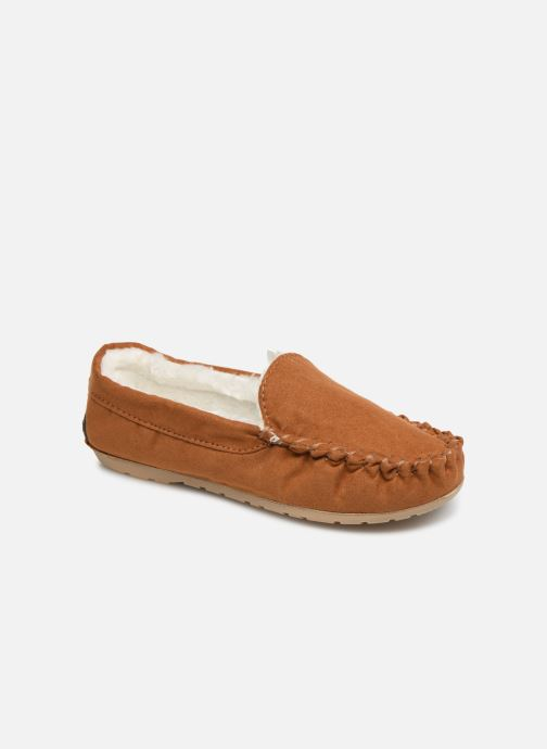 Slippers Monoprix Kids CHAUSSON FOURRE BRUN Brown detailed view/ Pair view