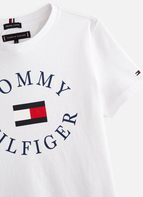 Vêtements Tommy Hilfiger KB0KB04676 Blanc vue portées chaussures