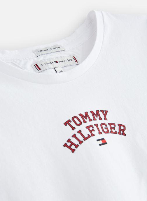 Vêtements Tommy Hilfiger KG0KG04192 Blanc vue portées chaussures