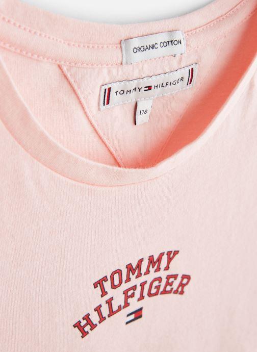 Vêtements Tommy Hilfiger KG0KG04192 Rose vue portées chaussures