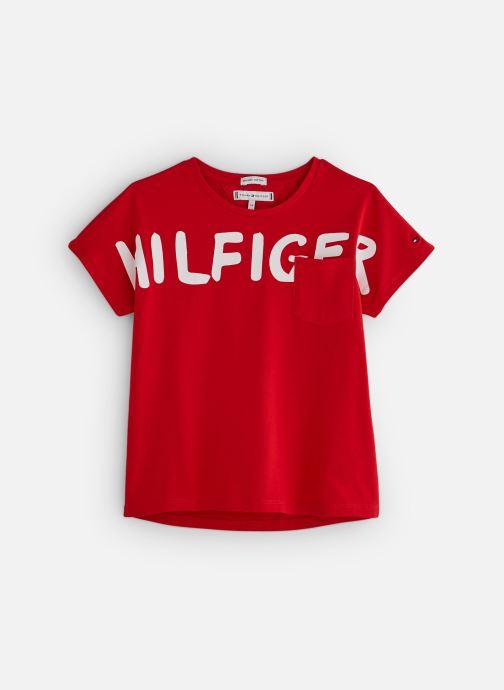 Vêtements Tommy Hilfiger KG0KG04202 Rouge vue détail/paire