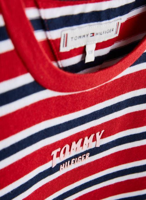 Vêtements Tommy Hilfiger KG0KG04272 Rouge vue portées chaussures