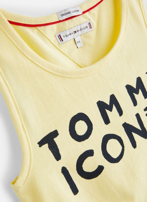 Vêtements Tommy Hilfiger KG0KG04290 Jaune vue portées chaussures