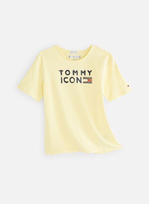 Vêtements Tommy Hilfiger KG0KG04392 Jaune vue détail/paire