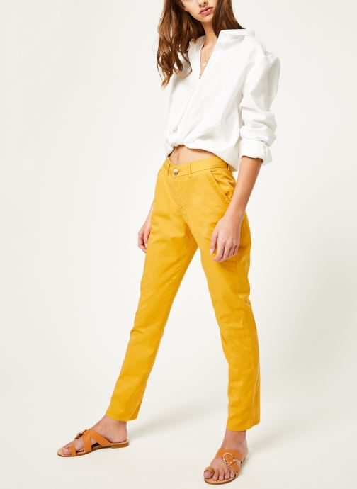 Vêtements Kanopé Pantalon dahlia toile Jaune vue bas / vue portée sac