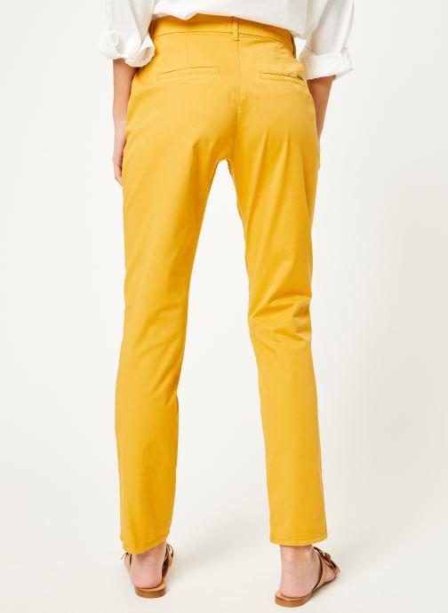 Vêtements Kanopé Pantalon dahlia toile Jaune vue portées chaussures