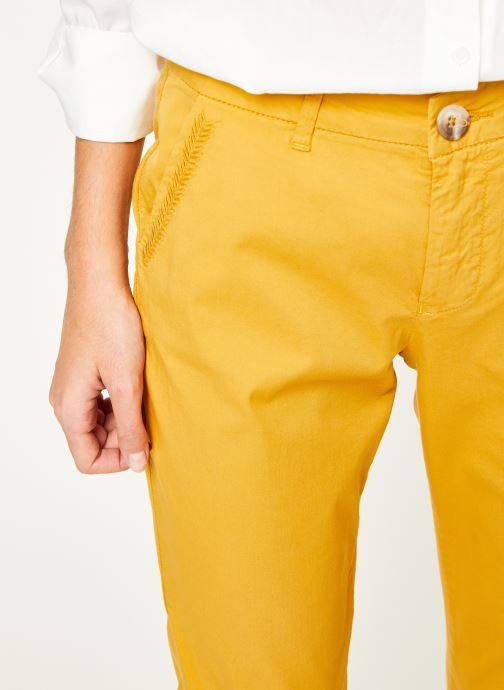 Vêtements Kanopé Pantalon dahlia toile Jaune vue face