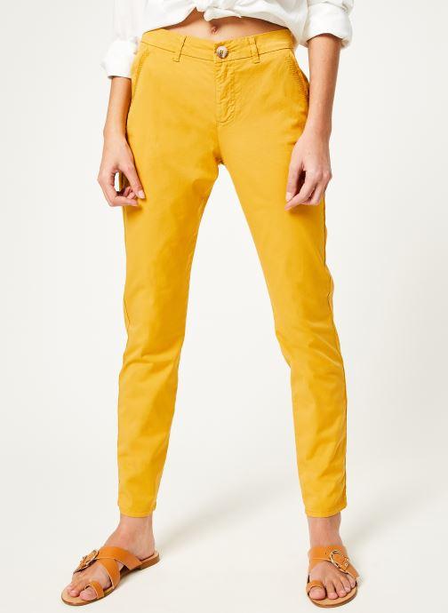 Vêtements Kanopé Pantalon dahlia toile Jaune vue détail/paire