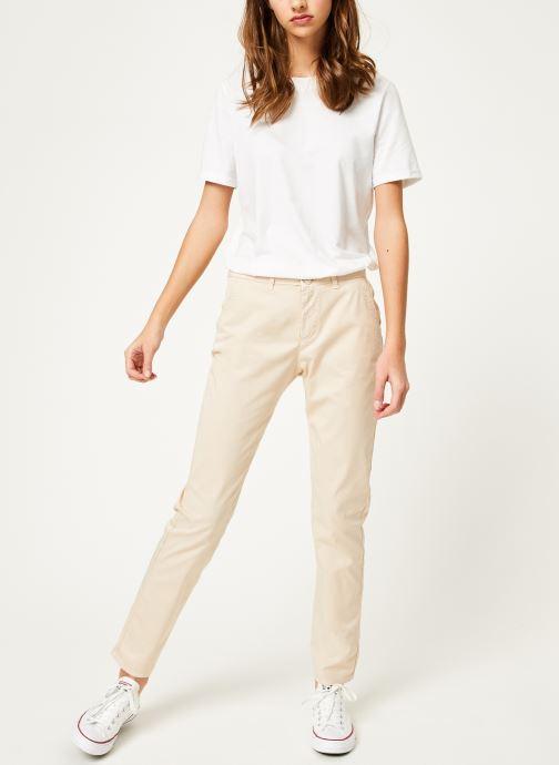 Vêtements Kanopé Pantalon dahlia toile Beige vue bas / vue portée sac