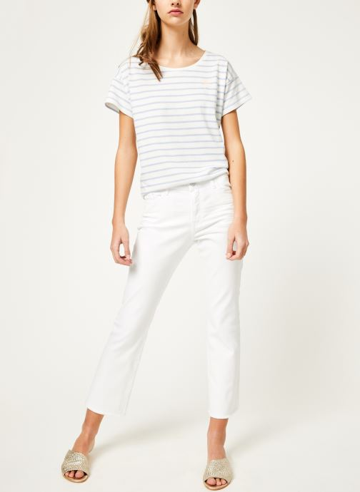 Vêtements Kanopé Pantalon maxine twill Blanc vue bas / vue portée sac